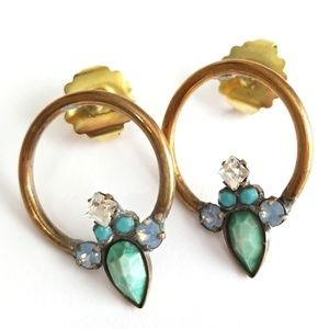 Sorrelli Calcedon Small Hoop Post Earrings